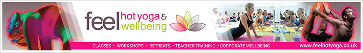 Feel Hot Yoga and Wellbeing promotional 10m banner