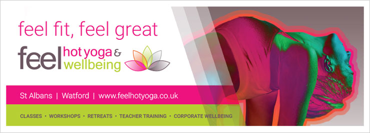 Feel Hot Yoga and Wellbeing promotional A banner