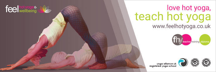 Feel Hot Yoga and Wellbeing Teacher Training Ad